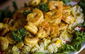 If you want foods that are packed with proteins that are really good for you then you have here a perfect pair the quinoa an the shrimp making this a dish your family will love and they wont know i's healthy