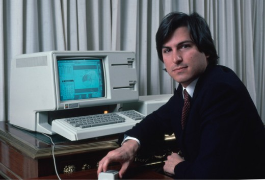 Steve Jobs with the Lisa Computer in 1983