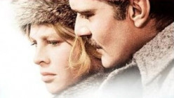 Julie Christie and Omar Sharif, play the two protagonists and lovers in David Lean's film of 'Doctor Zhivago.'