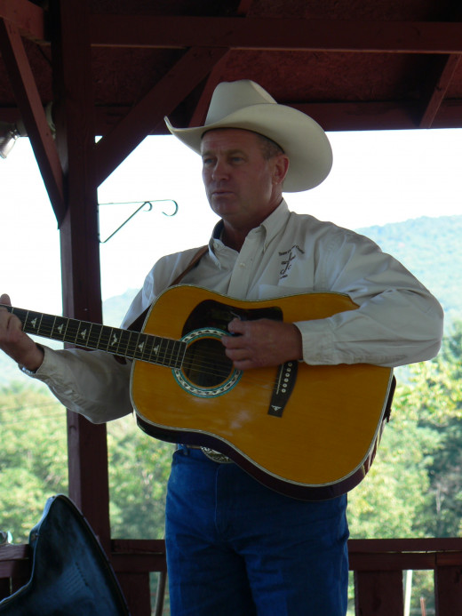Bob Corle is a singer/guitar player who is active in the Cowboy Church. We met him at a service in Tennessee a few years ago.