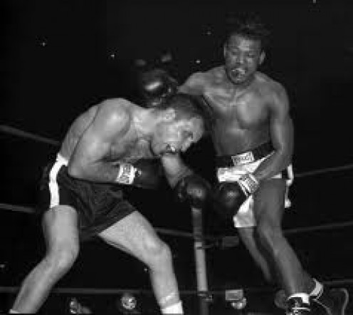 Sugar Ray Robinson fought Jake La Motta six times winning five of the contests.