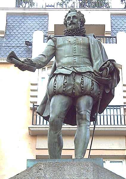 There are many monuments and plaques around Spain, commemorating Cervantes and his work.
