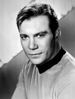 William Shatner as Captain Kirk from Star Trek
