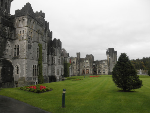 The back side of Ashford Castle