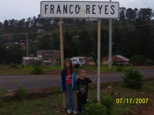 "Welcome to Franco Reyes, featuring the most generous people on Earth! Mari and Benicio say ""Where's the horses? We're bored! How come no one speaks English?"" :)"