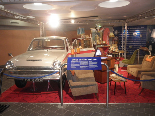One of the vehicle exhibits inside the museum.
