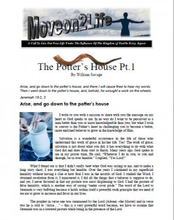 The Potter Pt.1: Arise, and Go Down To The Potter's House