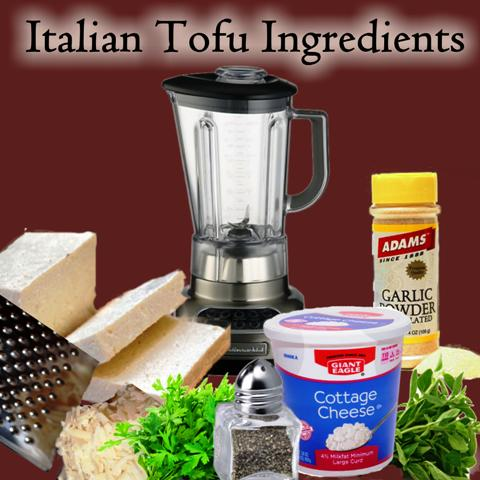 Italian Tofu Squares- Blend ingredients until smooth (#2 instructions)