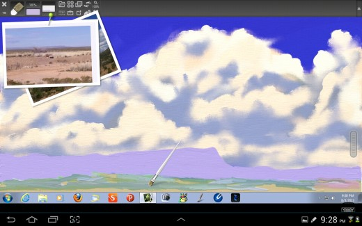 Painting the Mesa and Distant Vegetation