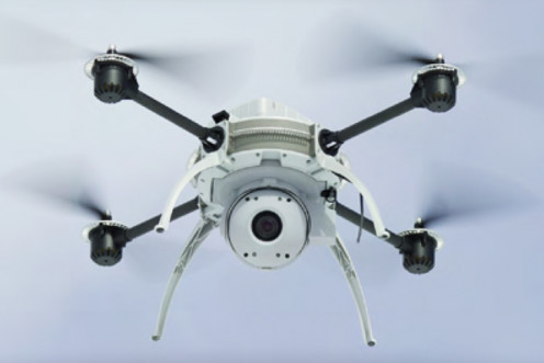 This is a typical commercial UAV or drone used in aerial photography practices.