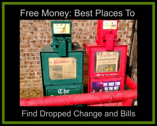 Find free money in newspaper machines.