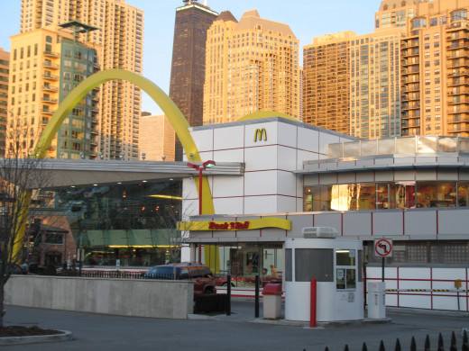 Rock and Roll McDonalds by day.