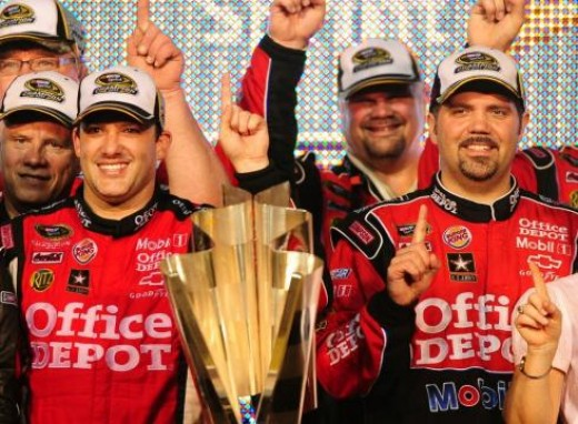 Even as they celebrated a championship, crew chief Darian Grubb was on his way out
