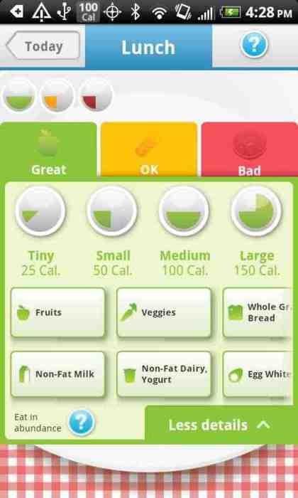 smartphone diet app