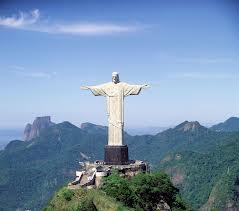 El cristo de la concordia monument (of jesus christ) in Brazil.
