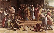 220px-V&A_-_Raphael,_The_Death_of Ananias