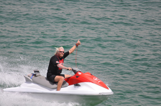 Richard Branson in his element.