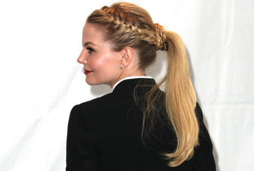 French braided side pony