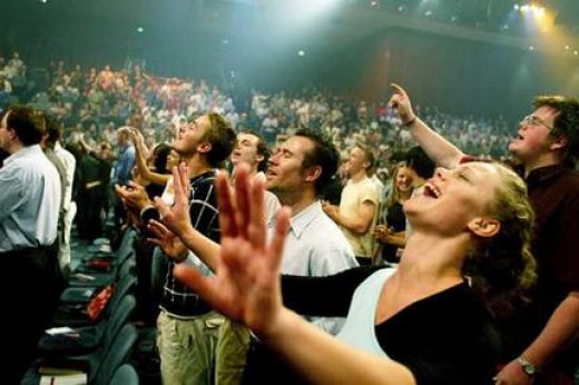 An evangelical service