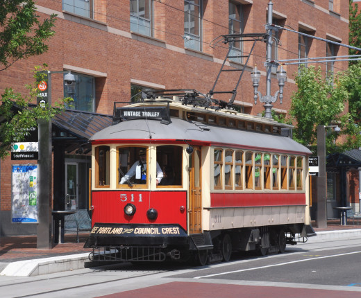 Portland's Vintage Trolley is a great way to see the city  for free.