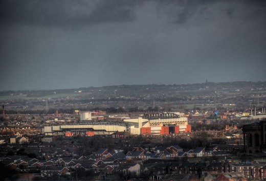 Anfilkeld & Liverpool FC from the Anglican Cathedral
