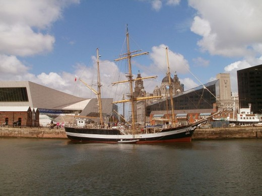 HMS Pelicam in the Albert Dock