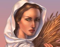 Ruth Gathers Grain and Meets Her Boaz