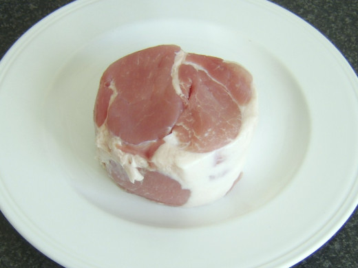 2 pound piece of boneless, unsmoked rolled ham