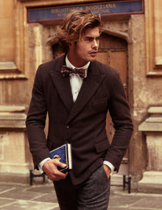 Bow tie with lapel jacket