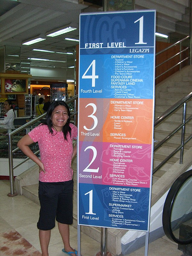 A mall directory