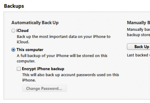 iPhone data recovery from iTunes backup