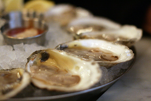 Shellfish such as oysters contain large amounts of zinc