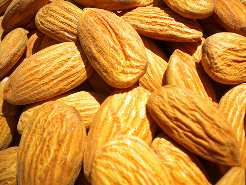 Almonds are a high source of natural coenzyme Q10