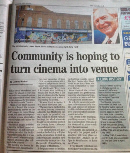 Article in the Kent Messenger...two days after the first meeting
