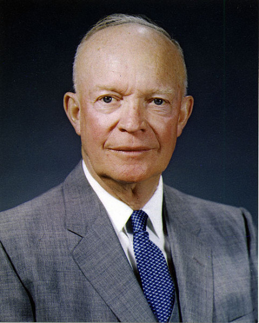 Dwight D. Eisenhower, 34th President of the United States.