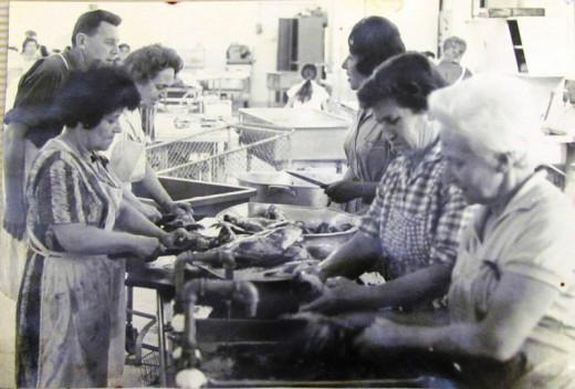preparing fish for Passover