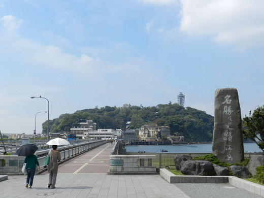 A view of Enoshima from the mainland