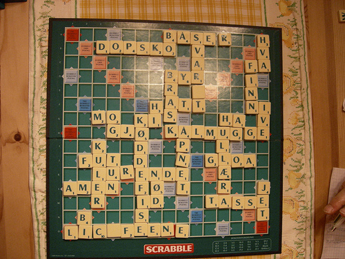 Scrabble all misspelled, because of some foreign language