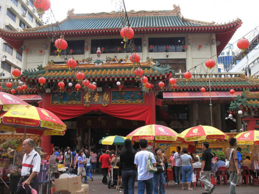 A typical Chinese temple in Singapore/Malaysia
