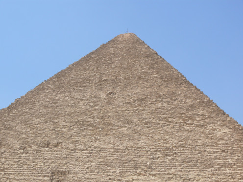 A closer look of the Great Pyramid (Khufu's pyramid.