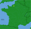 Map location of Rouen, France