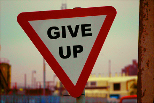 Give Up from naughton  flickr.com