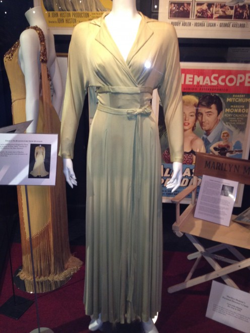"The green dress worn by Marilyn in the film ""There's No Business Like Show Business"""