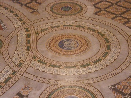 St George's Hall, Minton tiled floor