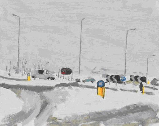 Traffic Island In The Snow, Danny Markey  (John Moores Prize winner)