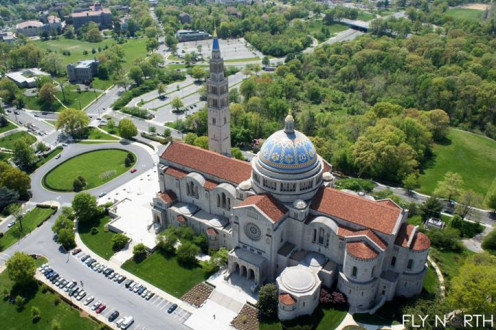 Air Photo of National Cathedral in Wshington D.C.