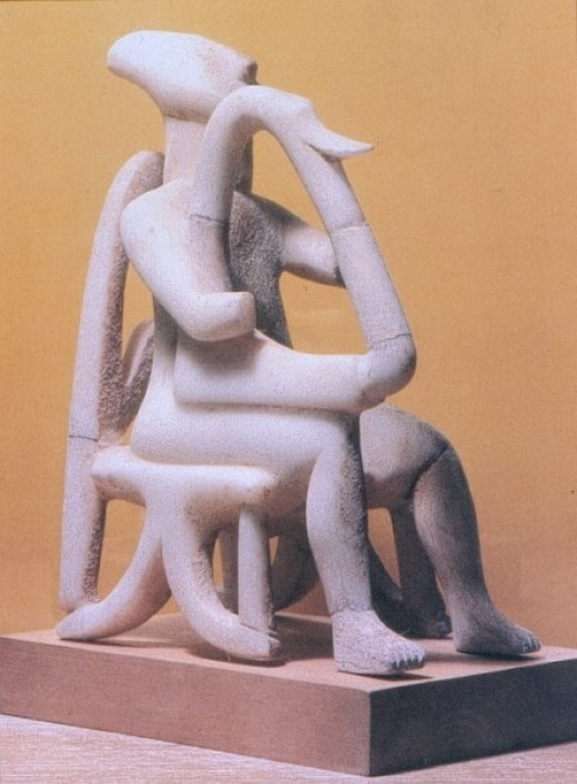 Cycladic Statuette of a harp player