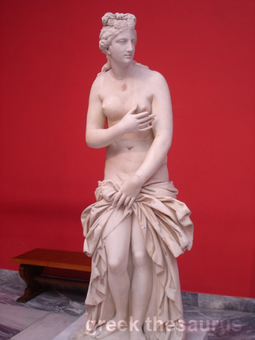 Aphrodite, now the goddess of erotic love, quite removed from earlier conceptions of the Goddess in all her functions and glory.