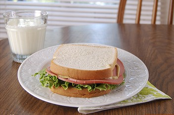Bologna sandwich - staple lunch food from bygone eras