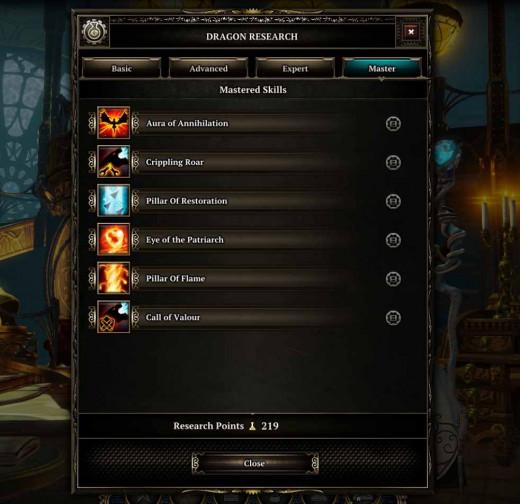 Divinity Dragon Commander Dragon Research Upgrade